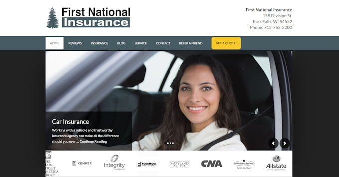 First National Insurance New Website